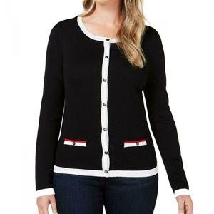 Karen Scott M Black Sweater 9BI35